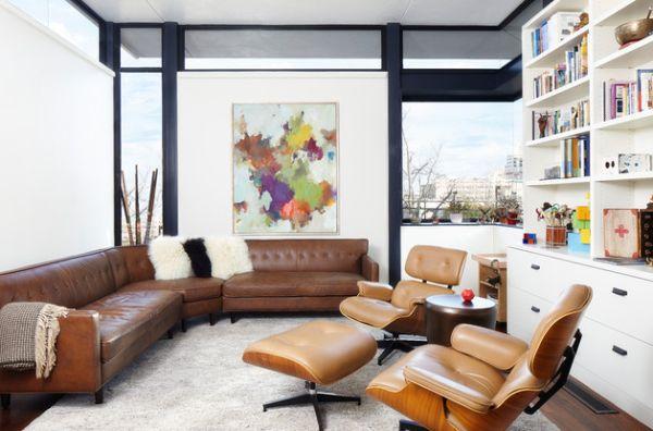 Das Zeitlose Eames Lounge Chair Bequem Leder Braun Sessel
