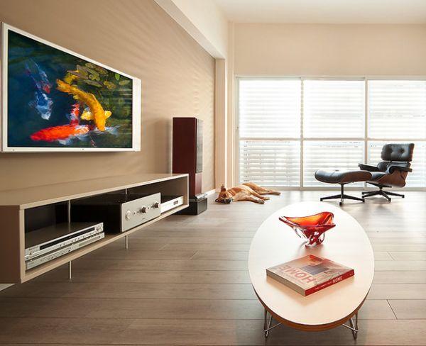 Das Zeitlose Eames Lounge Chair Bequem Oval Tisch Minimalistisch