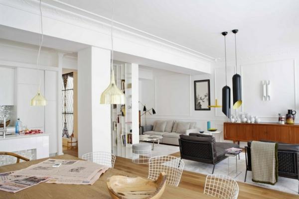 das-zuhause-gemütlich-einrichten-hängelampen-apartment-esszimmer