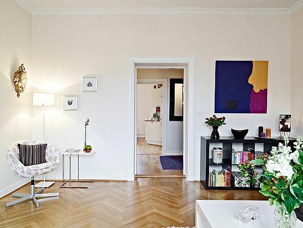 das zuhause gemütlich einrichten modern weiß wände holz boden