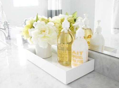 das zuhause schöner einrichten aromatisch blumen öl badezimmer