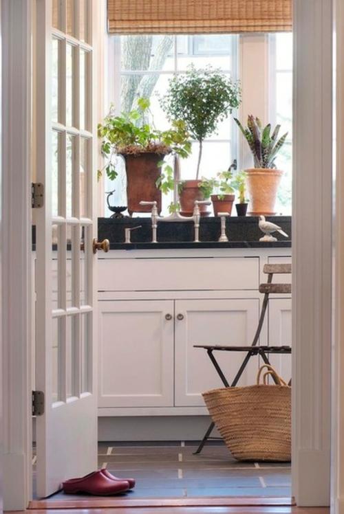 das zuhause schöner einrichten blumentopf spüle spülschrank