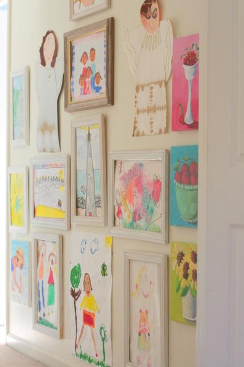 das zuhause schöner einrichten eingang flur kinderzeichnungen