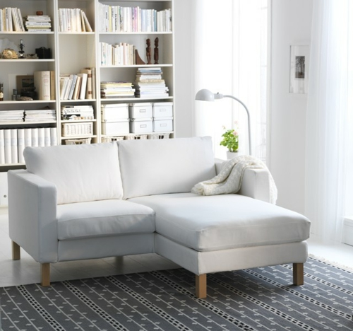 das zuhause schöner einrichten weiß wohnzimmer regale