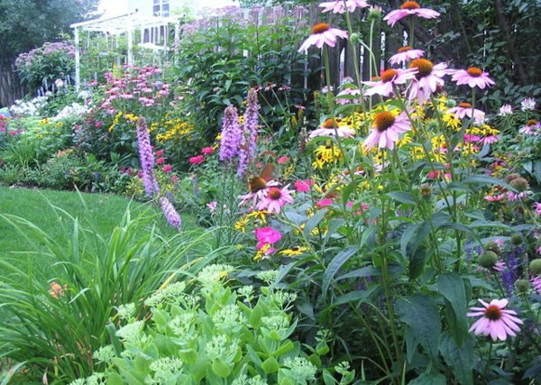 der slow gardening trend üppige blumen tolle vegetation
