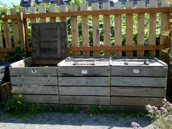 der slow gardening trend grobe aufbewahrungsboxen aus holz platten