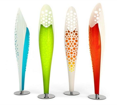 designer stehlampen  farbenfroh ausgefallene formen