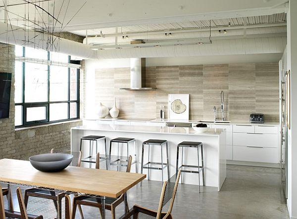 Küche wandgestaltung ideen  küche wandgestaltung - 25 ideen mit farbe, tapete und mehr ...