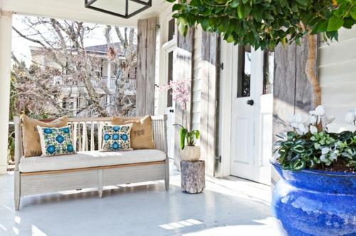 die veranda im sommer gestalten eklektischer stil