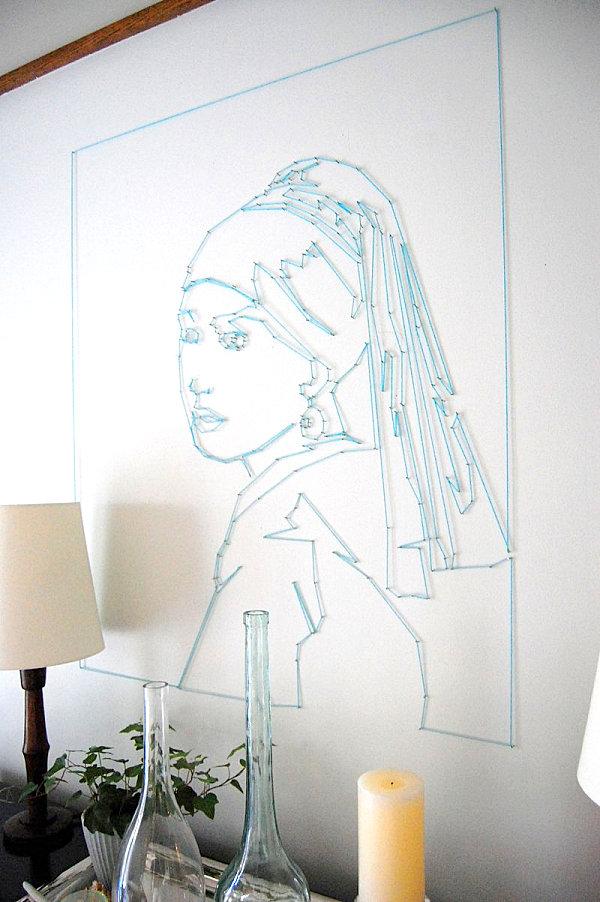 diy künstlerische ideen aus garn das portrait einer frau