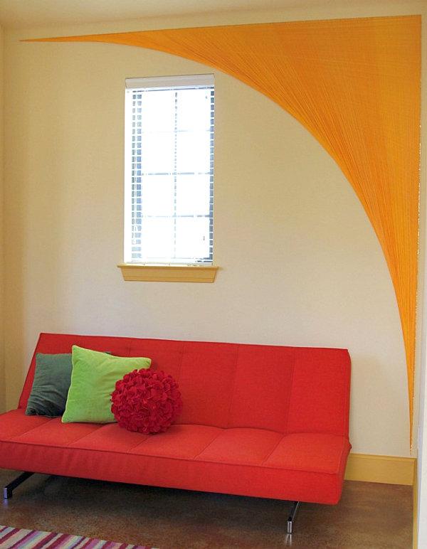 diy künstlerische ideen aus garn hell orange gewölbe