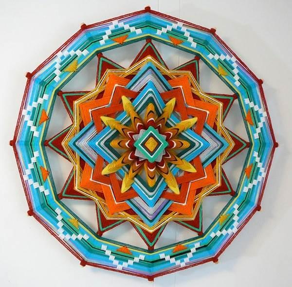 diy künstlerische ideen aus garn wunderschöne bunte mandala