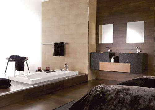 dunkle oberflächen texturen eingebaut badewanne tücher