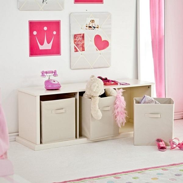 einfache aufbewahrungsideen alles in prinzessin pink