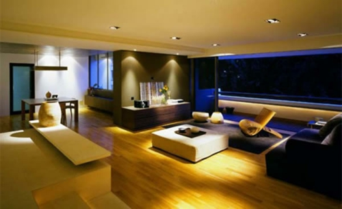 wohnzimmer holz modern | rheumri, Innenarchitektur ideen