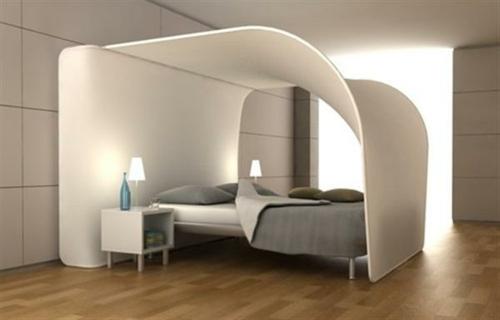 elegant weiß decke minimalistisch bett matratze