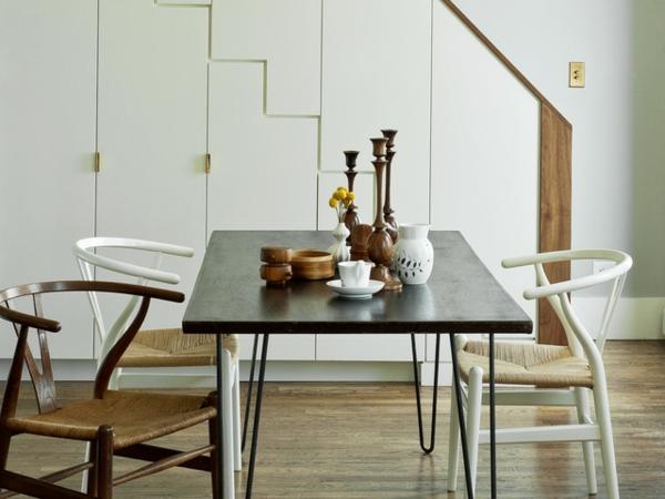 elegante möbel mit haarnadel beinen - modischer Kaffeetisch - dunkles ...