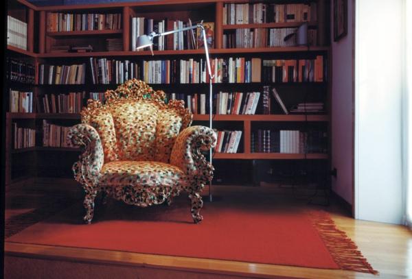 elegantes sessel design bunte abwechslung für die private bibliothek