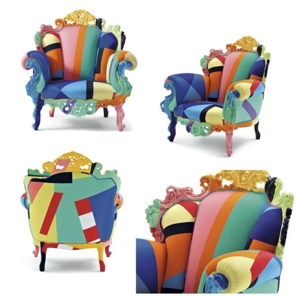 elegantes sessel design bunte moderne kunst
