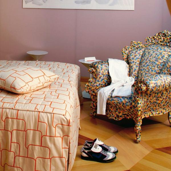 elegantes sessel design eklektische einrichtung lässige atmosphäre