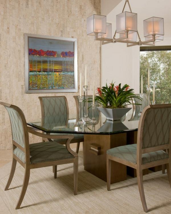 exotische dekoration mit tropischen pflanzen moderne wandkunst