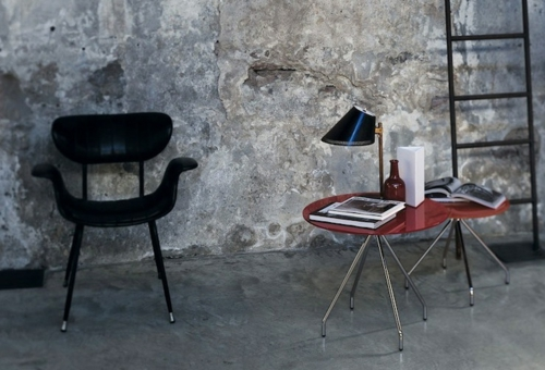 extravagant glas italia kaffeetisch idee design betonwände