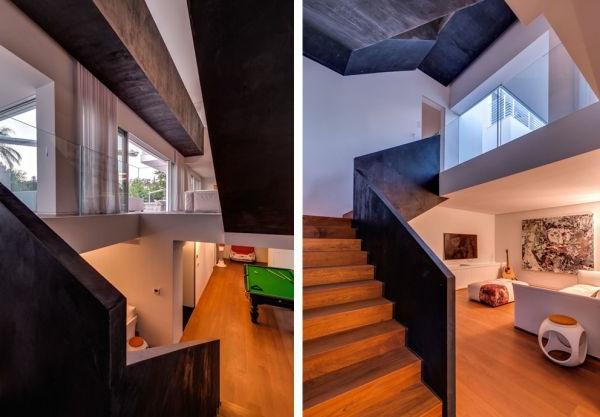extravagantes familienhaus die zweistöcke in einem