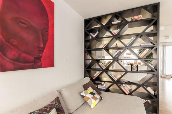 fabelhafte teenager zimmer schlafzimmer rautenförmig schwarz regale