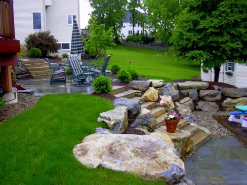 Findlinge im garten f r eine sch nere landschaft for Gartengestaltung wall