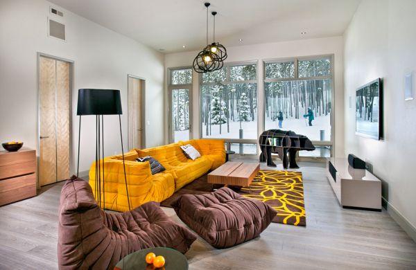 Schurwolle Konturenschnitt Teppich mit Motiven hoch tief Struktur