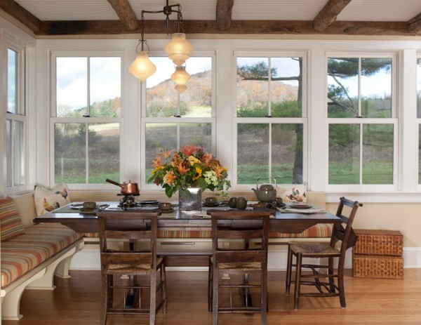 gemütliche küche einrichten design rustikales ambiente
