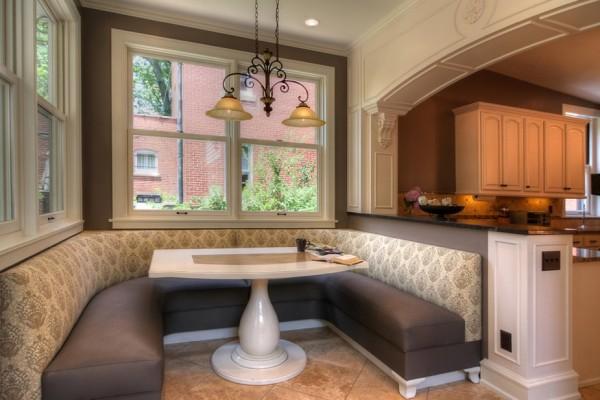 gemütliche küche einrichten design u förmige sofa tisch