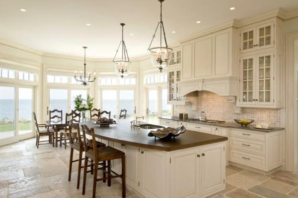 Einrichten Design gemütliche küche einrichten überdimensionierte küchen designs