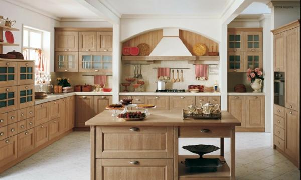 gemütliche küche einrichten helle holz möblierung schrank