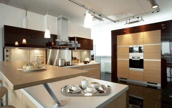 Einrichtungsideen küche modern  Gemütliche Küche einrichten - Überdimensionierte Küchen Designs