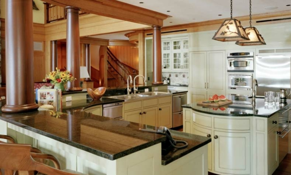 gemütliche küche einrichten pendelleuchten weiß möbel