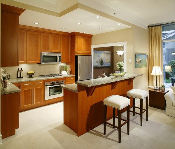 Küchen Barhocker gemütliche küche einrichten überdimensionierte küchen designs
