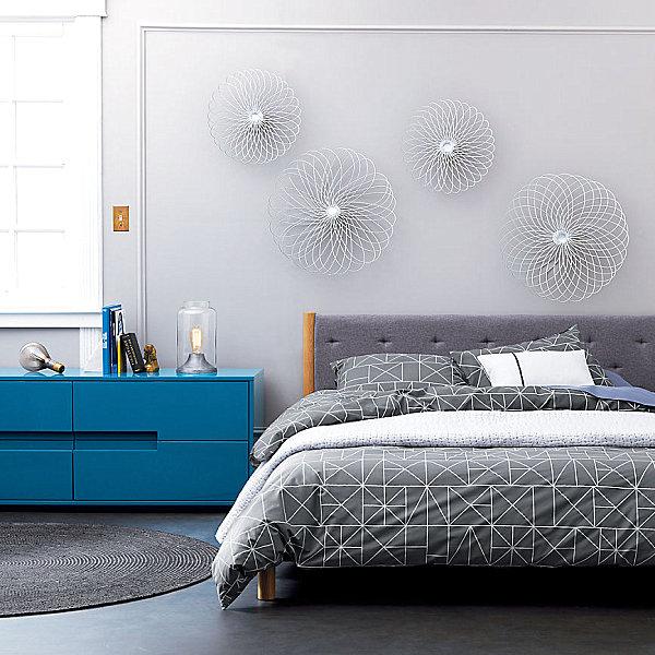 geometrische figuren im interior design bettwäsche schlafzimmer trends