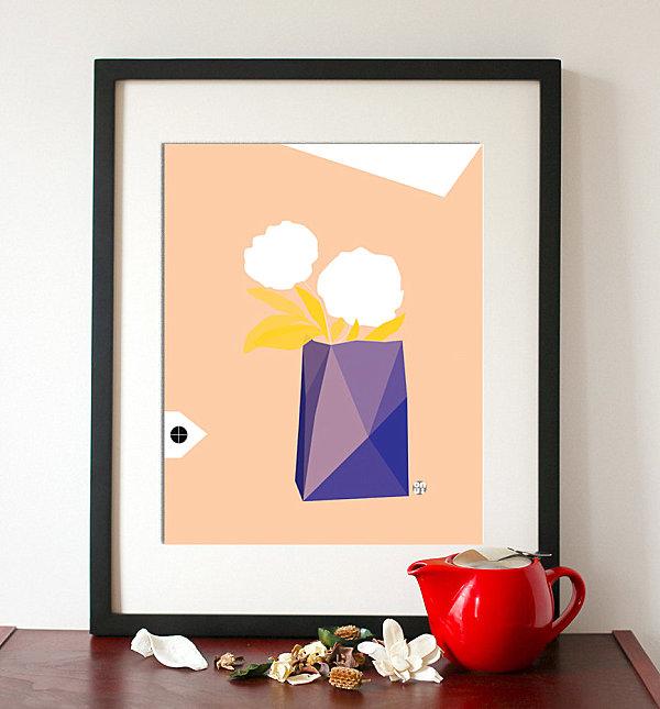 geometrische figuren im interior design malerei wand bild