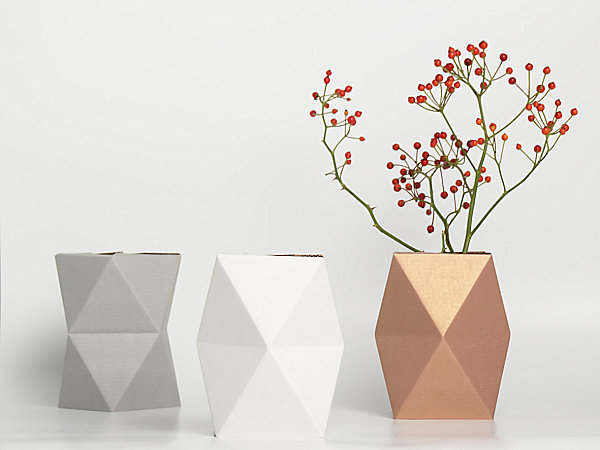 geometrische figuren im interior design pflanzen topf