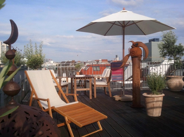 gewagte einrichtung für penthouse wohnung künstler terrasse