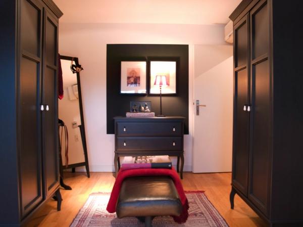 coole einrichtung für penthouse wohnung schwarze möbel