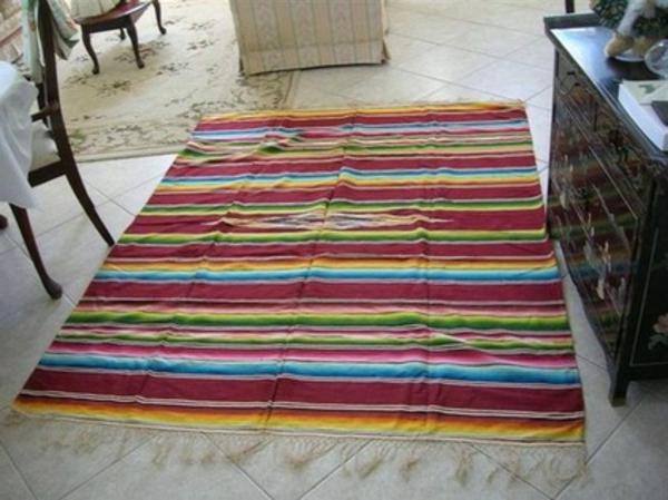 gewebte kunstwerke aus mexiko farbiger läufer