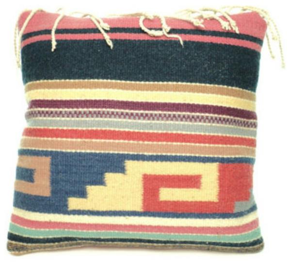 gewebte kunstwerke aus mexiko wunderschönes kissen