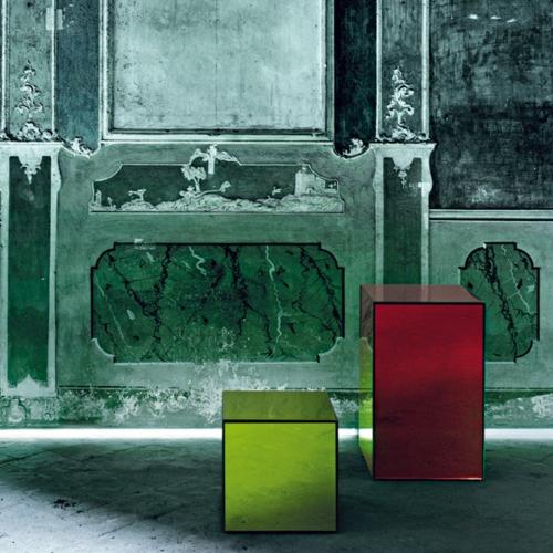 grün rot quadratisch tisch kaffee couch design glas