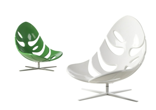 grüne Designer Stühle und Sessel  acryl monstera