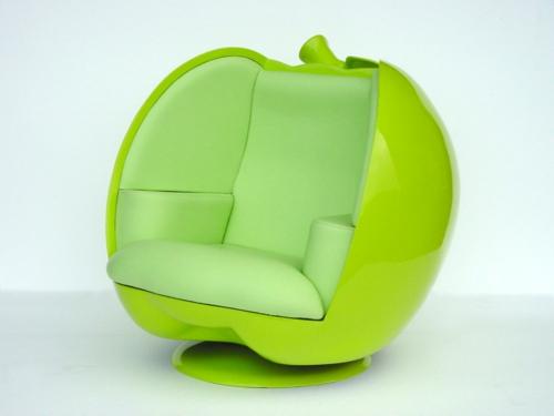 grüne designer stühle bequem gepolstert sessel apfel
