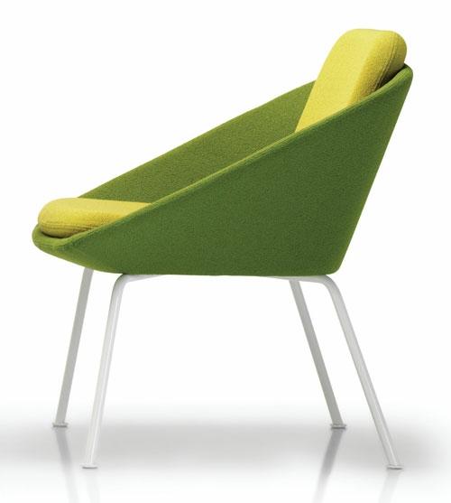 grüne designer stühle bequem gepolstert sessel gelb auflage