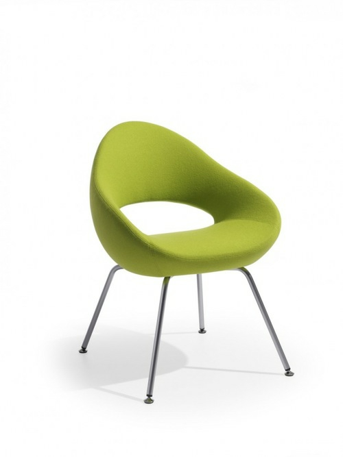 grüne designer stühle bequem gepolstert sessel stuhlbeine modern