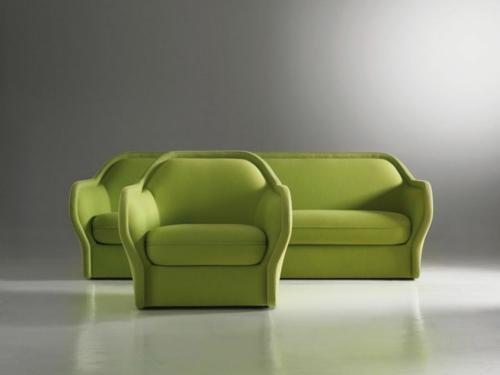 grüne Designer Stühle und Sessel bequem gepolstert sofa